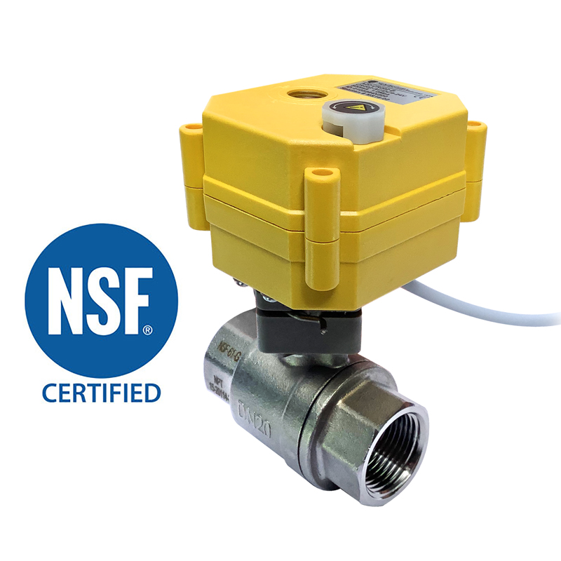 2 WAY NSF STAINLESS STEEL BALL VALVES 1/2″, 3/4″, 1″<br>SV SERIES