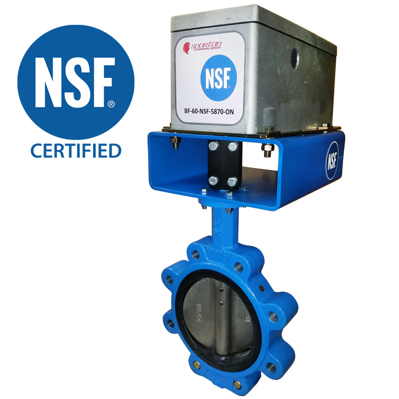 NSF BUTTERFLY VALVE<br>BF-NSF 61 SERIES