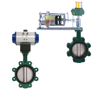 PNEUMATIC BUTTERFLY VALVES<br>SERIES 52, 81, 82
