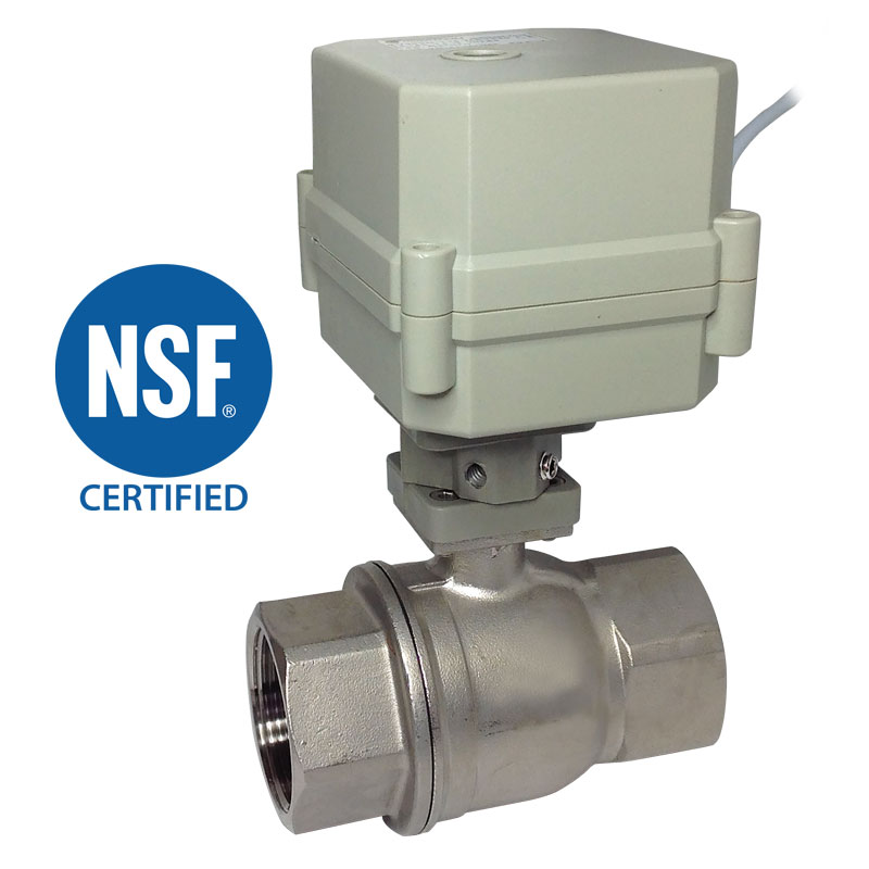 2 WAY NSF STAINLESS STEEL BALL VALVES 1-1/4″, 1-1/2″, 2″<br>SV SERIES