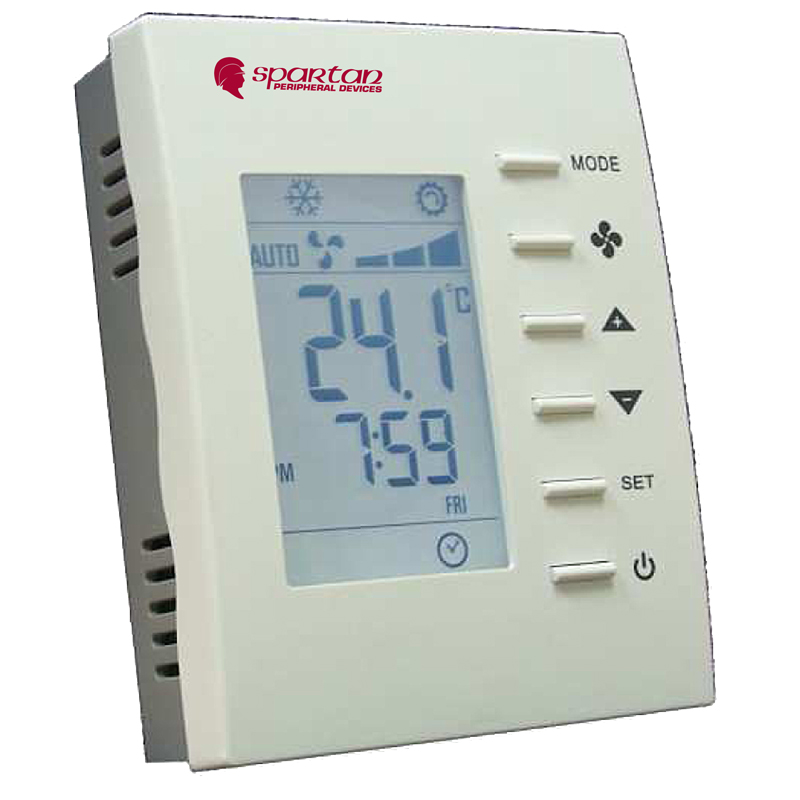 PROGRAMMABLE 0-10VDC MODULATING 3 SPEED FAN 6 PORT VALVE<br>TE253